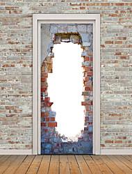 Недорогие -Известные картины Пейзаж 3D Наклейки Простые наклейки 3D наклейки 3D, Бумага Украшение дома Наклейка на стену Стена