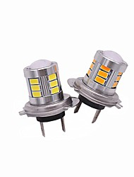 2 pcs top design de lentille super focus luminosité 9 w h7 led brouillard ampoule blanc jaune rouge couleurs en option