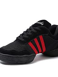 economico -Da uomo Sneakers da danza moderna Tulle Mezzepunte Quotidiano Tacco su misura Nero/Rosso Personalizzabile