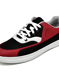 cheap -Men's Shoes Fleece Spring Fall Comfort Sneakers Lace-up For Outdoor Black/Red Black/White Black