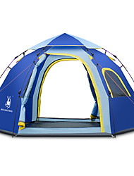 cheap -3-4 persons Tent Screen Tent Beach Tent Canopy Tent Single Camping Tent One Room Automatic Tent Breathability for Beach Camping / Hiking