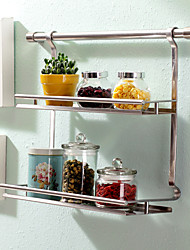 cheap -1pc Spice Racks Stainless Steel Easy to Use Kitchen Organization