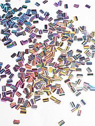 preiswerte -bunte paillette shell bunte nail art dekoration 12 teile / satz