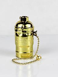 Недорогие -e26 золотой алюминиевый корпус античный винт edison подвеска лампа молния переключатель лампа держатель