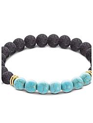 cheap -Men's / Women's Turquoise Strand Bracelet - Turquoise Ball Bohemian Bracelet Yellow / Light Blue For Gift / Casual