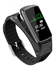 Smart Bracelet B7 Bluetooth Conversation Earset Style Heart Rate Monitor Smart Alarm Smart Bracelet 0.66'' OLED Sport Smartwatch Android/IOS