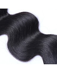 Unprocessed Indian Natural Color Hair Weaves Body Wave Hair Extensions One-piece Suit Black