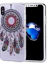 preiswerte -Hülle Für Apple iPhone X iPhone 8 iPhone 8 Plus Muster Rückseitenabdeckung Traumfänger Weich TPU für iPhone X iPhone 8 Plus iPhone 8