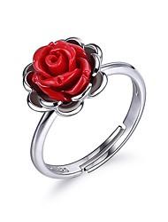 Жен. Обручальное кольцо Сексуальные платья Elegant Стерлинговое серебро В форме цветка Бижутерия Назначение День рождения