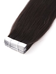 Neitsi 20'' 20Pcs 50g Double Drawn Tape in Human Hair Extensions Straight Remy Seamless Skin Weft 1B#