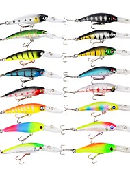cheap -16 pcs Fishing Lures Minnow Hard Bait Plastic ABS Sea Fishing Fly Fishing Bait Casting Ice Fishing Spinning Jigging Fishing Freshwater