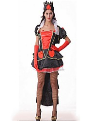 cheap -Queen Dress Masquerade Movie Cosplay Black Dress Halloween Carnival Polyster