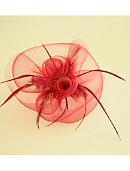 cheap -Feather Net Fascinators Flowers 1 Wedding Party / Evening Headpiece