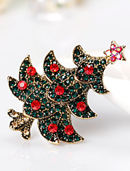 Women's Brooches Cute Style Personalized Rhinestone Alloy Geometric Jewelry For Gift Christmas