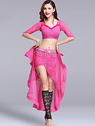 cheap -Belly Dance Outfits Women's Performance Lace Lace Half Sleeve Dropped Skirts Tops