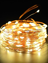 preiswerte -Kupferdraht fee string licht 50ft 100led 2 modi starry streifen lichter wasserdicht ip65 solar dekoration halloween garten outdoor home