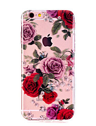 Case For Apple iPhone X iPhone 8 iPhone 8 Plus Ultra-thin Transparent Pattern Back Cover Flower Soft TPU for iPhone X iPhone 8 Plus