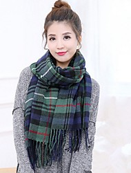Women's Imitation Cashmere Rectangle Color Block Winter All Seasons