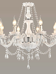 cheap -LWD Chandelier Uplight - Crystal Adjustable Candle Style Designers, Charm Persona Beads Collection Bohemian Style type V Pastoral Style