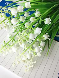 3 bouquet de campanule 28cm 7fork simulation fleurs en plastique