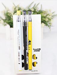 Недорогие -Гелевая ручка Ручка Гелевые ручки Ручка, пластик Черный Цвета чернил For Школьные принадлежности Офисные принадлежности В упаковке 12