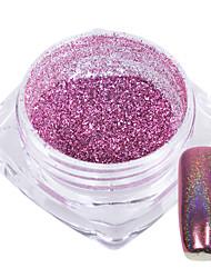 Недорогие -1g / бутылка сладкий розовый украшение ногтей искусство радуга блеск порошок зеркало блестящий эффект
