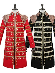 cheap -Prince Cosplay Costumes Male Festival/Holiday Halloween Costumes Red Black Halloween Christmas Carnival New Year Solid Color