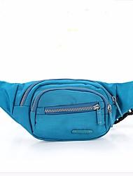 Mulher Bolsas Todas as Estações Fibra Sintética Bolsa de Cintura Ziper para Azul Verde Claro Fúcsia