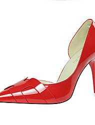 preiswerte -Damen Schuhe Lackleder Frühling Herbst Pumps High Heels für Normal Party & Festivität Silber Orange Grau Rot