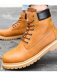 cheap -Men's Shoes PU Spring Fall Combat Boots Comfort Boots for Casual Black Yellow Brown