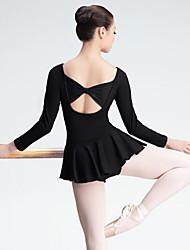 economico -Danza classica Per donna Esibizione Elastene Maniche lunghe Naturale Abito