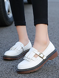 cheap -Women's Shoes PU Spring Fall Mary Jane Oxfords For Casual Yellow Black White
