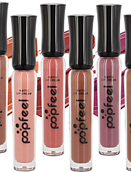 cheap -6PCS Popfeel Matte Nude Velvet Sexy Vampire Makeup Long Lasting Liquid Lipstick Lip Tint Cream Lip Gloss Set
