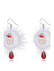 Women's Drop Earrings Rhinestone Simple Hiphop Plush Alloy Jewelry Jewelry For Christmas