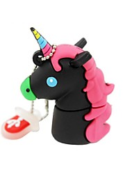 2 gb usb 2.0 cartoon unicorn horse usb unidad flash disco lindo memory stick pen drive regalo pen drive