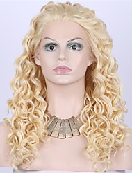 cheap -Synthetic Lace Front Wig Curly / Wavy Synthetic Hair Blonde Wig Women's Medium Length / Long Lace Front Wig