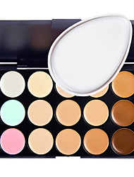 cheap -15 Concealer/Contour Powder Puff Wet Matte Shimmer Long Lasting Non Toxic Comfortable Fashion Normal Breathability Formaldehyde Free
