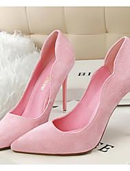 Damen Schuhe Vlies Frühling Herbst Komfort High Heels Für Normal Kleid Schwarz Orange Grau Rot Rosa