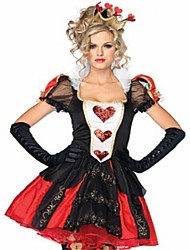 cheap -Queen of Hearts One Piece Dress Masquerade Female Halloween Carnival Oktoberfest Festival / Holiday Halloween Costumes Red Solid Color