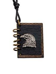 cheap -Men's Women's Eagle Locket Shape DIY Punk Pendant Necklace Wood Alloy Pendant Necklace Gift Going out