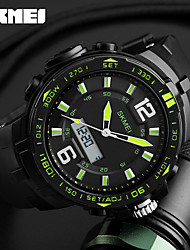 cheap -SKMEI Men's Sport Watch Digital Watch Digital Calendar Chronograph Water Resistant / Water Proof Dual Time Zones Alarm Stopwatch PU Band
