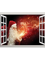 cheap -Christmas People 3D Wall Stickers 3D Wall Stickers Decorative Wall Stickers 3D,Vinyl Material Home Decoration Wall Decal
