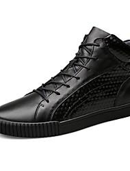 Masculino sapatos Pele Real Pele Napa Pele Outono Inverno Conforto Botas da Moda Curta/Ankle Sapatos de mergulho Tênis Botas Curtas /