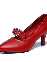 Для женщин Современный Кожа Для открытой площадки Каблуки на заказ Красный Каблуки на заказ Персонализируемая