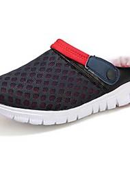 abordables -Femme Chaussures Tulle Printemps Automne Confort Sabot & Mules Pour Décontracté Gris Rose Noir/Rouge