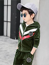 cheap -Kids Boys' Color Block Cotton Clothing Set