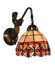 preiswerte -Durchmesser 18 cm Retro Meerjungfrau Tiffany Wandleuchten Shell Schatten Wohnzimmer Schlafzimmer Leuchte
