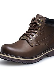 cheap -Men's Shoes Real Leather Cowhide Winter Fluff Lining Snow Boots Fashion Boots Bootie Boots Booties/Ankle Boots Lace-up For Casual Outdoor