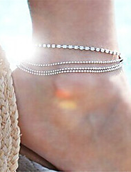 cheap -Multi Layer - Women's Silver Sexy / Multi Layer Line Anklet For Party / Going out