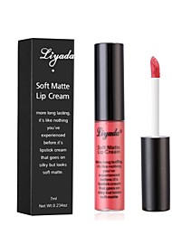 cheap -Lip Gloss Lipstick Matte Shimmer Mineral Waterproof Cosmetic Beauty Care Makeup for Face